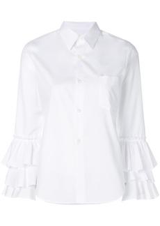 Comme Des Garçons Comme Des Garçons ruffle sleeve shirt - White