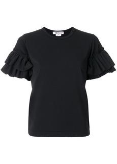 Comme Des Garçons Comme Des Garçons ruffle sleeve T-shirt - Black
