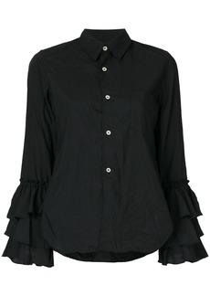 Comme Des Garçons Comme Des Garçons ruffle sleeved shirt - Black
