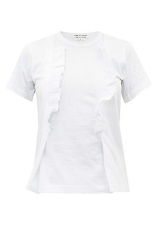 Comme des Garçons Comme des Garçons Ruffle-trim cotton T-shirt
