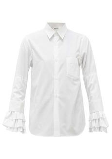 Comme des Garçons Comme des Garçons Ruffled-cuff cotton shirt