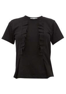 Comme des Garçons Comme des Garçons Ruffled-trim cotton T-shirt