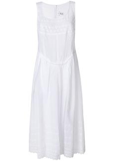 Comme Des Garçons Comme Des Garçons scalloped hem sundress - White