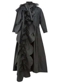 Comme des Garçons Comme des Garçons Scalloped-panel technical-satin dress