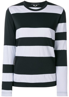 Comme Des Garçons Comme Des Garçons striped style sweatshirt - Black