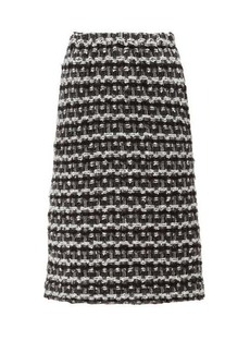 Comme des Garçons Comme des Garçons Tweed pencil skirt