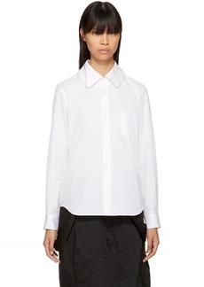 Comme des Garçons Comme des Garçons White Pointed Collar Shirt