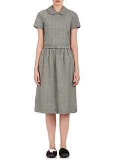 Comme des Garçons Comme des Garçons Women's Glen Plaid Wool Belted Dress