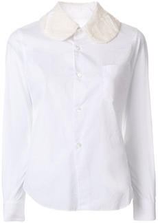 Comme Des Garçons contrast collar fitted shirt - White