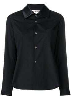 Comme Des Garçons contrast collar shirt - Black