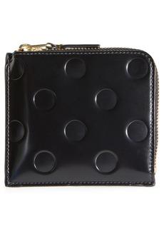 Comme des Garçons Dots Embossed Leather Line Wallet