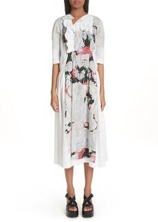 Comme des Garçons Floral Print Midi Dress