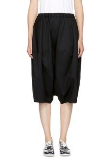 Comme des Garçons Girl Black Wool Oversized Shorts