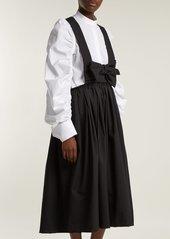Comme des Garçons Girl Bow wool pinafore dress