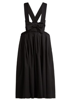 Comme Des Garçons Girl Bow wool pinafore dress