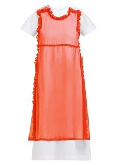 Comme des Garçons Girl Cotton-poplin and georgette dress