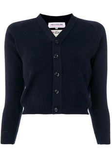 Comme Des Garçons Girl cropped fitted cardigan - Blue