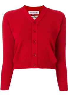 Comme Des Garçons Girl cropped fitted cardigan - Red