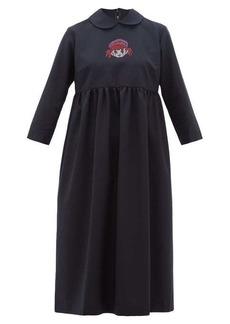 Comme des Garçons Girl Crystal cartoon-embellished wool midi dress