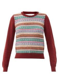 Comme des Garçons Girl Fair-Isle wool-blend sweater