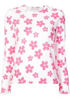Comme Des Garçons Girl flower print shirt - White