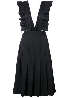 Comme Des Garçons Girl jersey ruffle strap pleated skirt - Black