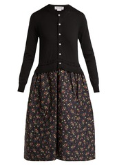 Comme des Garçons Girl Knitted and quilted-panel dress
