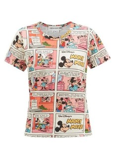 Comme des Garçons Girl Mickey Mouse comic-print cotton-jersey T-shirt