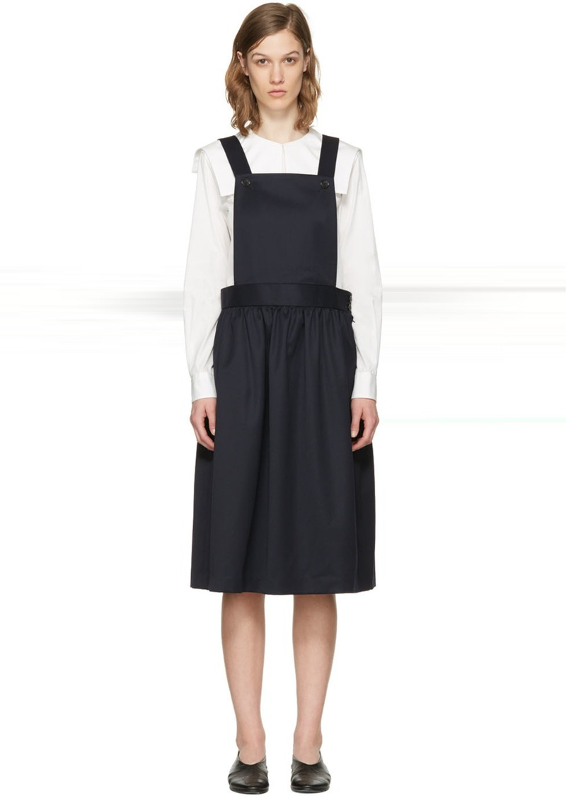 Comme des Garçons Girl Navy Apron Dress