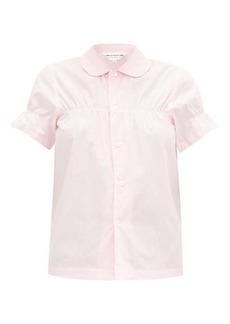 Comme des Garçons Girl Peter Pan-collar cotton shirt