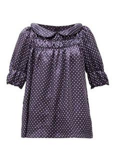 Comme des Garçons Girl Peter Pan-collar polka-dot satin-twill blouse