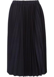 Comme des Garçons Pleated Wool-twill Skirt