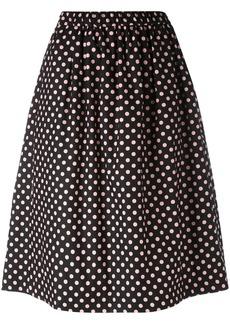 Comme Des Garçons Girl polka dot midi skirt - Black
