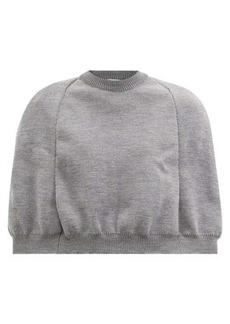 Comme des Garçons Girl Round-neck cape sweater