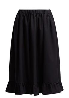 Comme Des Garçons Girl Ruffle-hem wool midi skirt