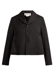 Comme Des Garçons Girl Ruffle-trimmed wool jacket