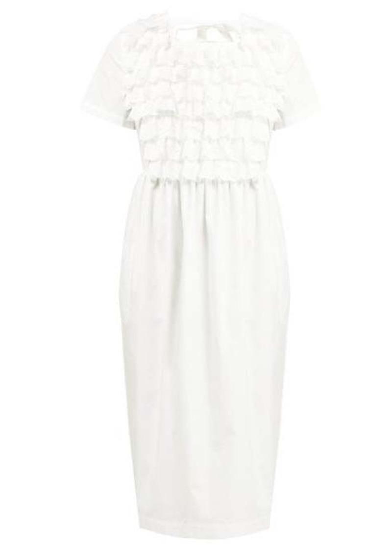 Comme des Garçons Girl Ruffled broderie anglaise cotton-poplin dress