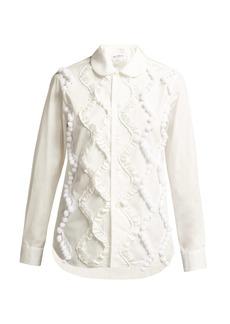 Comme Des Garçons Girl Ruffled cotton shirt