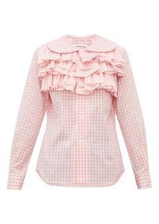 Comme des Garçons Girl Ruffled gingham cotton blouse
