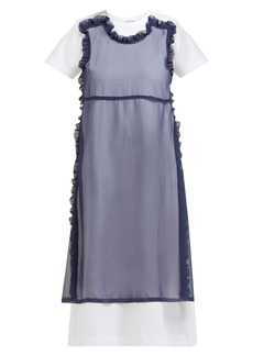 Comme des Garçons Girl Ruffled-panel cotton midi dress