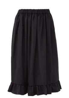 Comme des Garçons Girl Ruffled tropical wool midi skirt