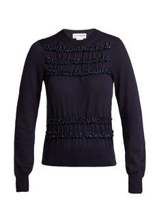 Comme Des Garçons Girl Ruffled wool sweater