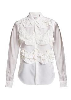 Comme Des Garçons Girl Ruffled woven blouse