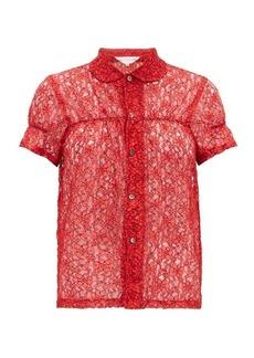 Comme des Garçons Girl Short-sleeved floral-lace shirt