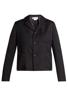 Comme Des Garçons Girl Single-breasted patch-pocket wool blazer