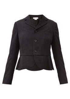 Comme des Garçons Girl Single-breasted petal-peplum wool jacket