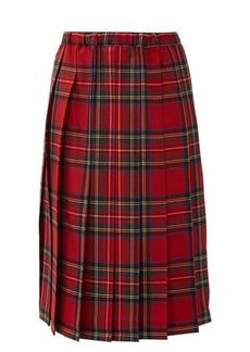 Comme des Garçons Girl Tartan pleated-wool skirt