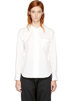 Comme des Garçons Girl White Oversized Rounded Collar Shirt
