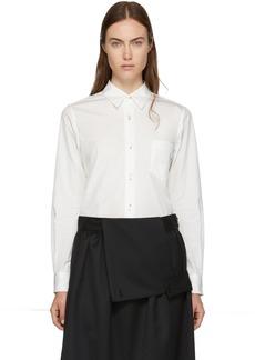 Comme des Garçons Girl White Pointed Collar Shirt
