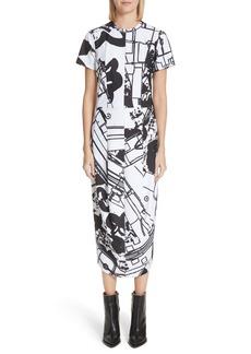Comme des Garçons Graffiti Print T-Shirt Dress